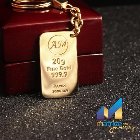 Брелок слиток золота с пожеланием