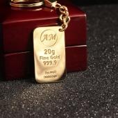 Брелок слиток золота с инициалами