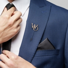 Мужская булавка в лацкан пиджака С Инициалами