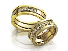 Пара обручальных колец с бриллиантами Edem