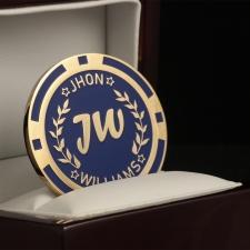 Именная покерная фишка «JW»