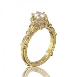 Золотое кольцо для помолвки Gabriella