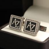 """Запонки с инициалами """"AZ"""""""