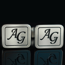 """Запонки с инициалами """"AG"""""""