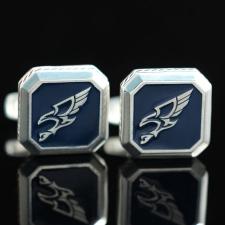 Серебряные запонки с логотипом Орел