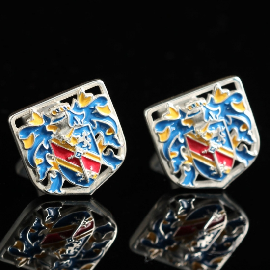 Серебряные запонки Герб