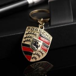 Золотой брелок c логотипом PORSCHE