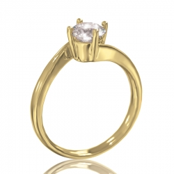 Золотое кольцо для помолвки Kler
