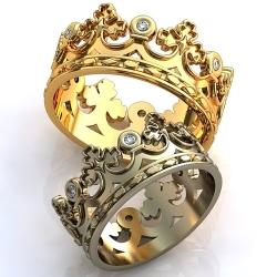"""Парные обручальные кольца """"Корона"""""""