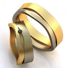 """Парные золотые кольца """"Орбиты"""""""