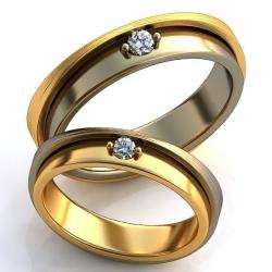 """Парные обручальные кольца """"Symmetry"""""""