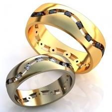 """Парные обручальные кольца """"Wave"""""""