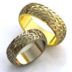 """Парные обручальные кольца """"Шины"""""""