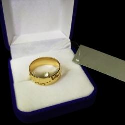 Золотое кольцо с инициалами