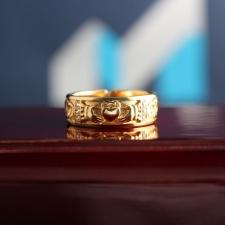 Золотое кольцо для помолвки Кладдах
