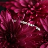 Кольцо с бриллиантовой дорожкой