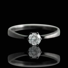 Кольцо из черного золота Блеск