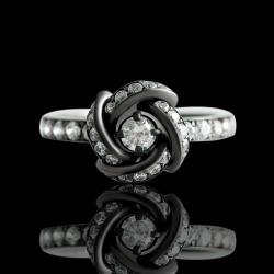 Кольцо из черного золота «Созвездие»
