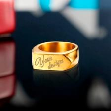 Золотой перстень Your design