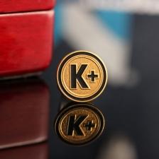 Корпоративный значок из золота К