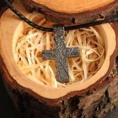 Двусторонний крест из Чёрного Серебра под Гравировку