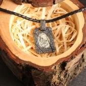 Именной кулон из Оксидированного Серебра с Отпечатком Пальца