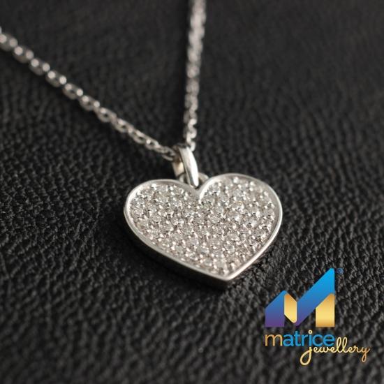 Подвеска Сердце с бриллиантами