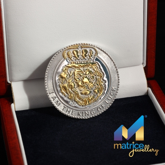 "Серебряная монета ""Лев"""