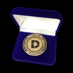 Серебряная монета с логотипом