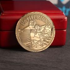 Монета из серебра для крёстного отца