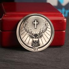 Монета из серебра с логотипом Jagermeister