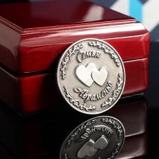 Серебряная монета Семья Авраменко