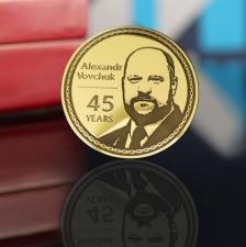 Золотая монета на юбилей 45 лет