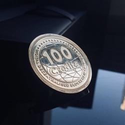 Золотая корпоративная монета