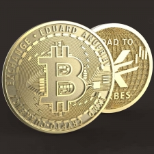 Именная монета Биткоин