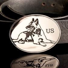 Пряжка для ремня US с изображением собаки