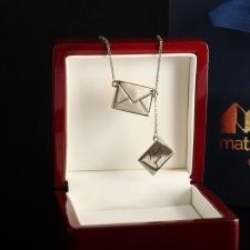 Серебряная подвеска Письмо