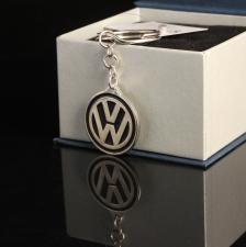 Серебряный брелок Volkswagen с Пожеланием
