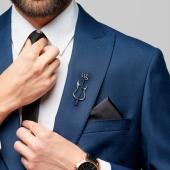 Булавка в лацкан пиджака Гитара с инициалами