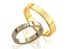 Классические парные обручальные кольца Star