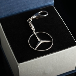 """Серебряный брелок """"Mercedes"""""""
