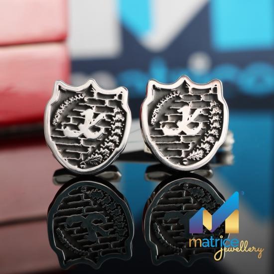 Серебряные запонки с семейным гербом