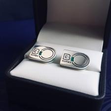 """Запонки с логотипом """"Binorma"""""""