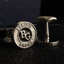 Серебряные запонки с логотипом