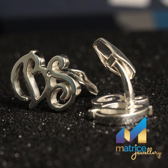 Запонки из серебра с инициалами