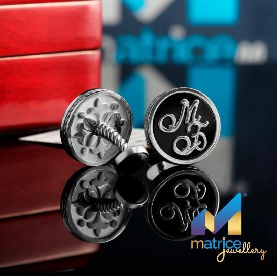 Серебряные запонки с Инициалами МБ