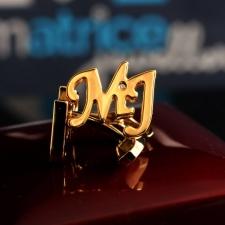 Золотые запонки MJ с Бриллиантом