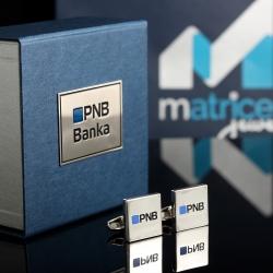 "Запонки с логотипом ""PNB Banka"""