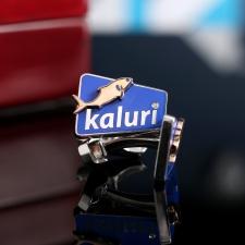 """Золотые запонки с логотипом """"kaluri"""""""
