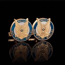 Золотые запонки с логотипом
